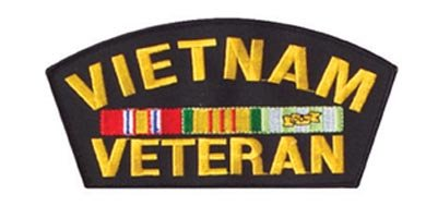 "Vietnam Vet 6"" Embroidered Patch"