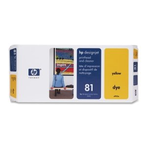 HP 81 Yellow Printhead/Cleaner. NO 81 YELLOW DYE PRINTHEAD/PH DESIGNJET 5000 5500 P-SUPL. Yellow - Inkjet - 1000 Page - 1 Each - Retail