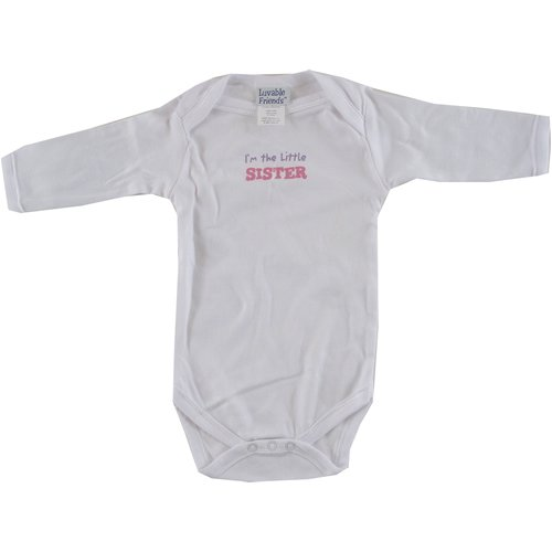 Baby-Says Long-Sleeve Bodysuit - Little Sister - Buy Baby-Says Long-Sleeve Bodysuit - Little Sister - Purchase Baby-Says Long-Sleeve Bodysuit - Little Sister (Luvable Friends, Luvable Friends Apparel, Luvable Friends Toddler Boys Apparel, Apparel, Departments, Kids & Baby, Infants & Toddlers, Boys, One-Pieces & Rompers)