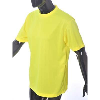 Hymac Hi Vis Yellow T shirt High Viz Tee Mens Womens Running Cycling