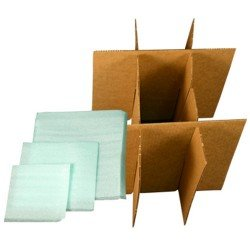 Uboxes Dish Cell Divider Kit- Divider and Foam Pouches for Protecting Your Dishes