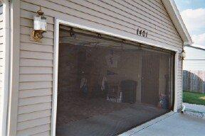 Garage door screen standard with zipper 16x7 black for 18 x 8 garage door screen