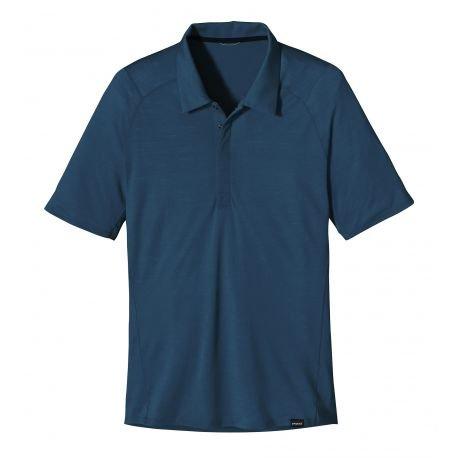Patagonia Maglietta da uomo M' S Merino 2LW polo, Uomo, Shirt M'S Merino 2 LW Polo, Vetro blu, M