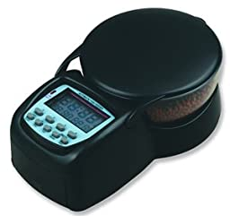 Automatic Fish Feeder Electronic Programmable Portion Control Fish Food Dispenser w/ LCD display