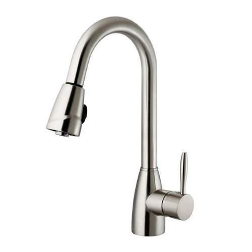 Vigo Industries VG02014ST Valencia Kitchen Pull Out Spray Faucet, Steel
