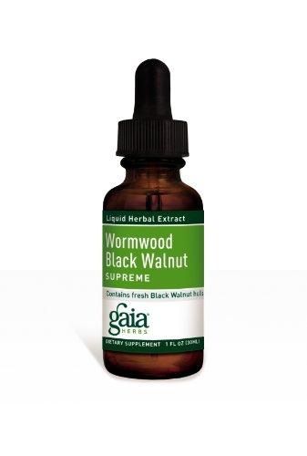 Gaia Herbs Wormwood Black Walnut Supreme, 1-Ounce Bottle (Pack Of 2)