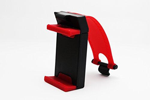 Navigation automobile support de téléphone portable voiture volant téléphone support de support extensible ( couleur : Rouge )