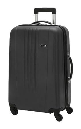 Skyway Luggage Nimbus 24 Inch 4 Wheeled Expandable Spinner Upright, Black, Large