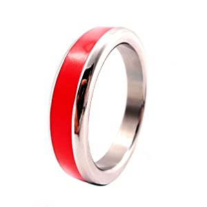 M2m Metal C-ring - S Steel W/red Band W/bag