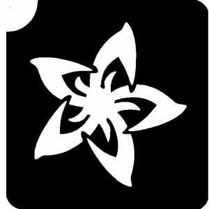 Lotusblüte, Symbol für Reinheit und Treue - Tattooschablone für glitzernde Abbildungen, auch für Airbrush geeignet