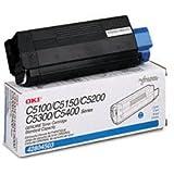 Okidata 42804503 Toner Cartridge, Laser, Type C6, 3000 Page Yield, Cyan
