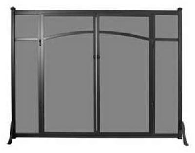 Flat Fireplace Screen With Doors Images
