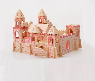 Thinkmax® 3-D Wooden Puzzle- Children And Adult'S Educational Building Blocks Puzzle Toy The Princess Castle Model front-1012750