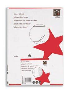 5Star étiquettes d'adressage Impression Laser 14 Par feuille Blanc 99,1 x 38,1 mm - 1400 étiquettes total