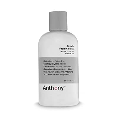 Anthony Logistics For Men Glycolic Facial Cleanser 8 Fl Oz from Anthony Logistics