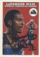 LaPhonso Ellis Minnesota Timberwolves 2001 Fleer Tradition Autographed Hand Signed... by Hall+of+Fame+Memorabilia