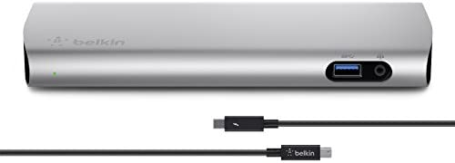 BELKIN F4U085vf Station d'accueil Thunderbolt 2 express dock HD en aluminium brossé + câble Thunderbolt