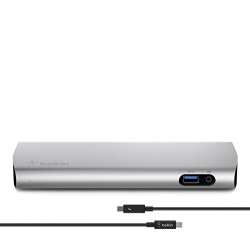 Great Deal! Belkin Thunderbolt 2 Express HD Dock with 1-Meter Thunderbolt Data Transfer Cable, Mac a...