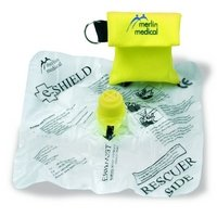 Resus Mouth To Mouth Protection Resuscitation Shield In a Keyring Pouch Pack Of 50
