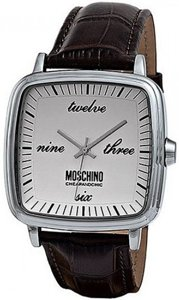 MOSCHINO CHEAP AND CHIC Mod. TIME FOR IRONY GENT SS BROWN / WHITE