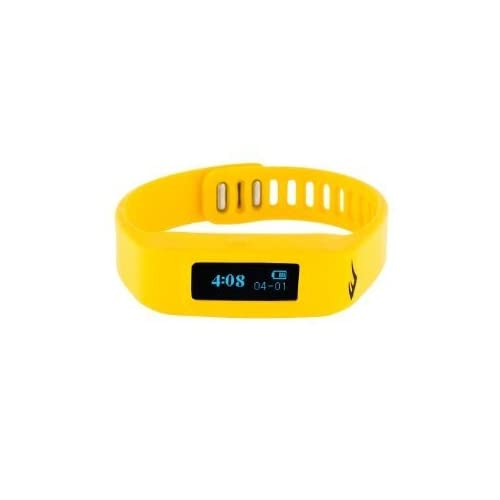 腕時計 Everlast TR1 Yellow Wireless Sleep/ Fitness Activity Tracker Watch with LED Display [並行輸入品]