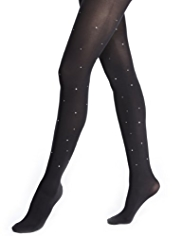 Autograph 60 Denier Velvet Touch Opaque Tights MADE WITH SWAROVSKI® ELEMENTS