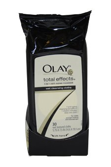 Total Effects Age Defying Wet Cleansing Cloths by Olay for Women - 30 Pc Cloths (Wet Pc compare prices)