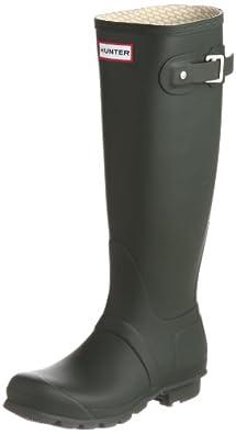Hunter Original Tall Classic W23499, Unisex - Erwachsene, Gummistiefel, Grün (Dark Olive), EU 35/36 (UK 3)