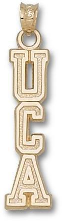 Central Arkansas Bears Vertical UCA Pendant - 14KT Gold Jewelry by Logo Art