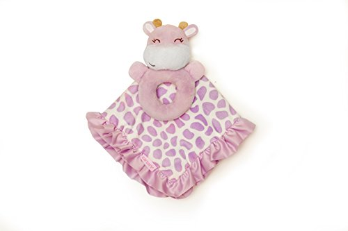 Carter's Rattle and Security Blanket, Purple Giraffe (Discontinued by Manufacturer) - 1