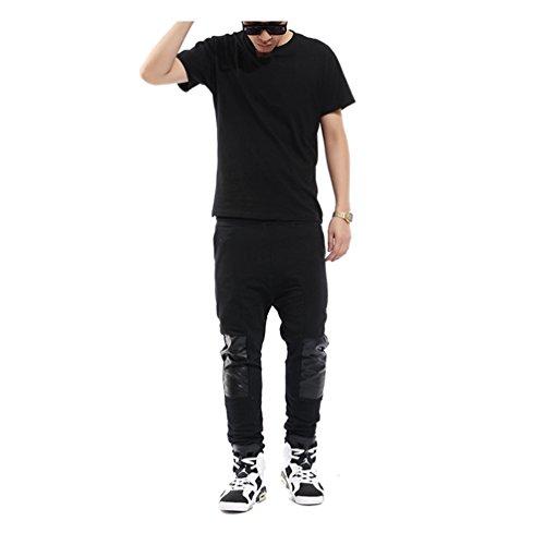 pantalon-de-chandal-de-corte-con-paneles-de-cuero-sintetico-de-pizoff-y0260-black-m