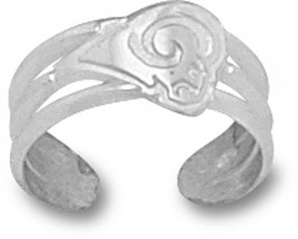 St. Louis Rams NFL Sterling Silver Toe Ring