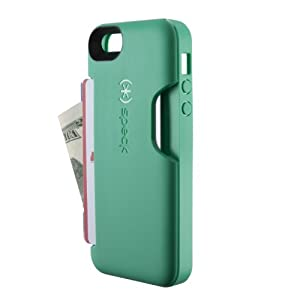 Speck Products SmartFlex Card Case for iPhone 5 & 5S - Retail Packaging - Malachite Green