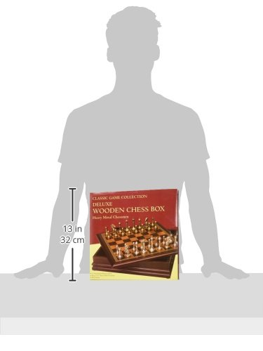 "Metal Chess Set With Deluxe Wood Board and Storage - 2.5"" King 2"