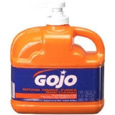 Gojo 0958-04 64-Ounce Hand Cleaner, Natural Orange by Gojo