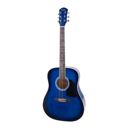 Kalos Dgp-41Bb 41-Inch Acoustic Dreadnought Guitar Package With Gig Bag, Strings, Pitch Pipe And Picks - Blue