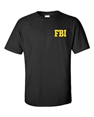Jacted Up Tees FBI Federal Bureau of Investigation Front & Back Men's T-Shirt SHIPS FROM OHIO USA