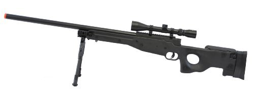 L96 Bolt Action Spring Rifle w/ Bipod & Scope Black