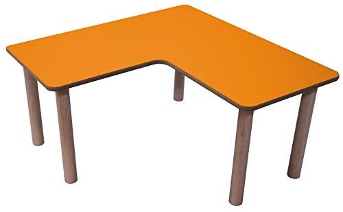 Tisch Kidz Pro – L-Form, 90 x 90 cm, verschiedene Farben und Höhen H 59 cm weiß