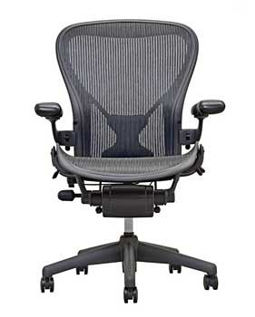 Aeron Desk Chair, Full-Featured PostureFit, Color - Carbon, Small