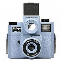 Holga 120TLR TWIN LENS REFLEX 120 W/COLOR FLASH - Lt. BLUE