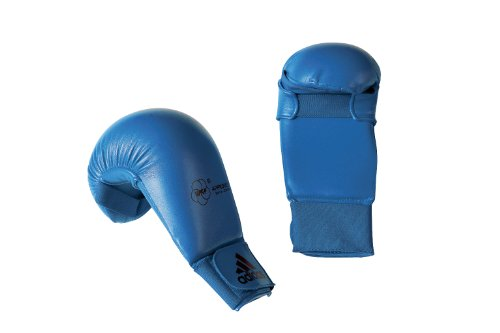 Adidas 611.11 WKF Karate Mitts - Blue, Small