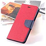 First 4 Covers For Oppo Joy 3 Flip Cover Wallet Diary Case (Red)