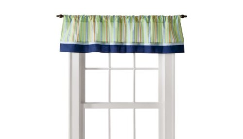 Tiddliwinks Blue/Green Safari Valance - 1