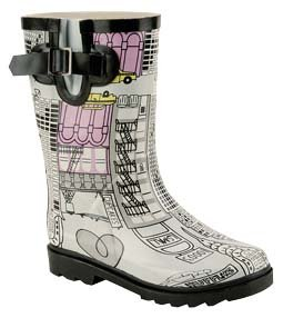 Natural Breeze Girl's/children's Rubber Rain Boots Graphics (II) (11) CA1, CA3