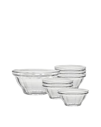 Duralex 7-Piece Picardie Bowl Set, Clear