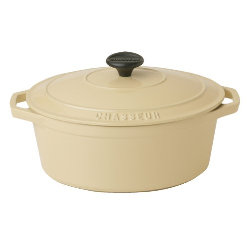 Chasseur Cast Iron 27cm, 3.0ltr Oval Cream Casserole