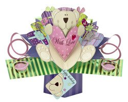 Pop up Teddy Bear Birthday Card