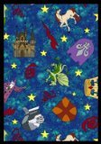"Joy Carpets Playful Patterns Children's Mythical Kingdom Area Rug, Multicolored, 7'8"" x 10'9"""