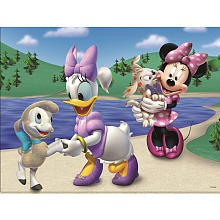 Minnie Mouse Walking Dog Lenticular Puzzle - 24-Piece - 1